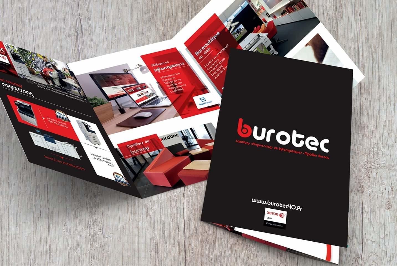 Plaquette commerciale Burotec Mont de Marsan – Saint Avit – Gironde – Bordeaux – Arcachon – Biscarrosse