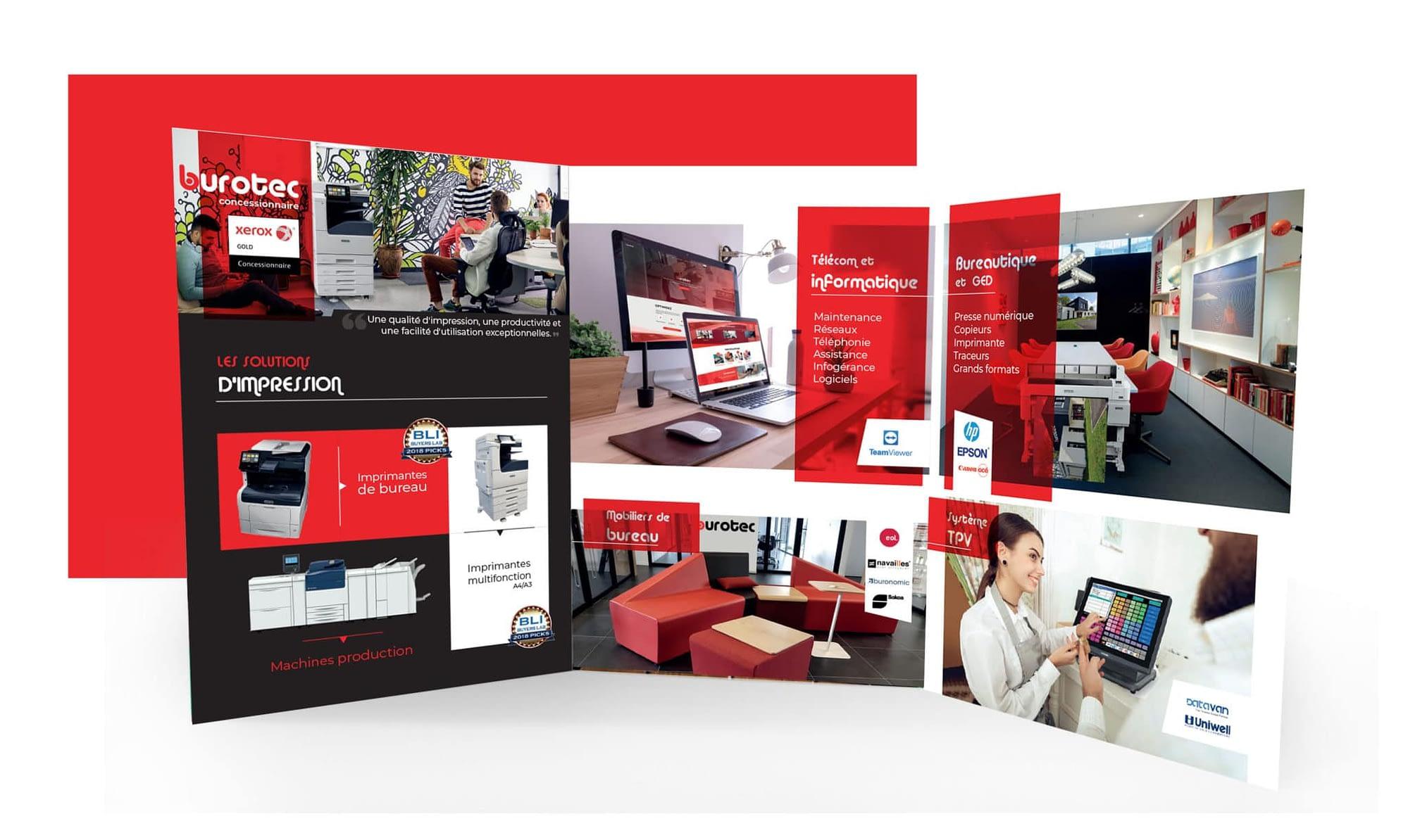 Agence graphics création plaquette commerciale