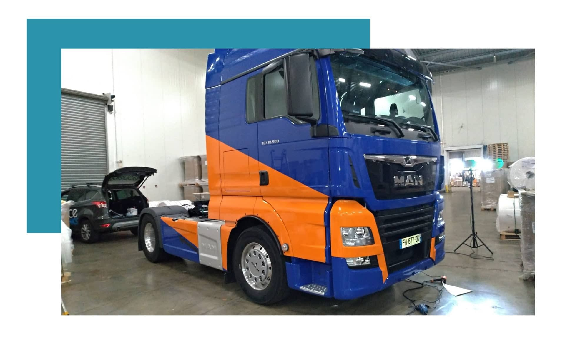 Pose Total Covering Camion PHC Transport