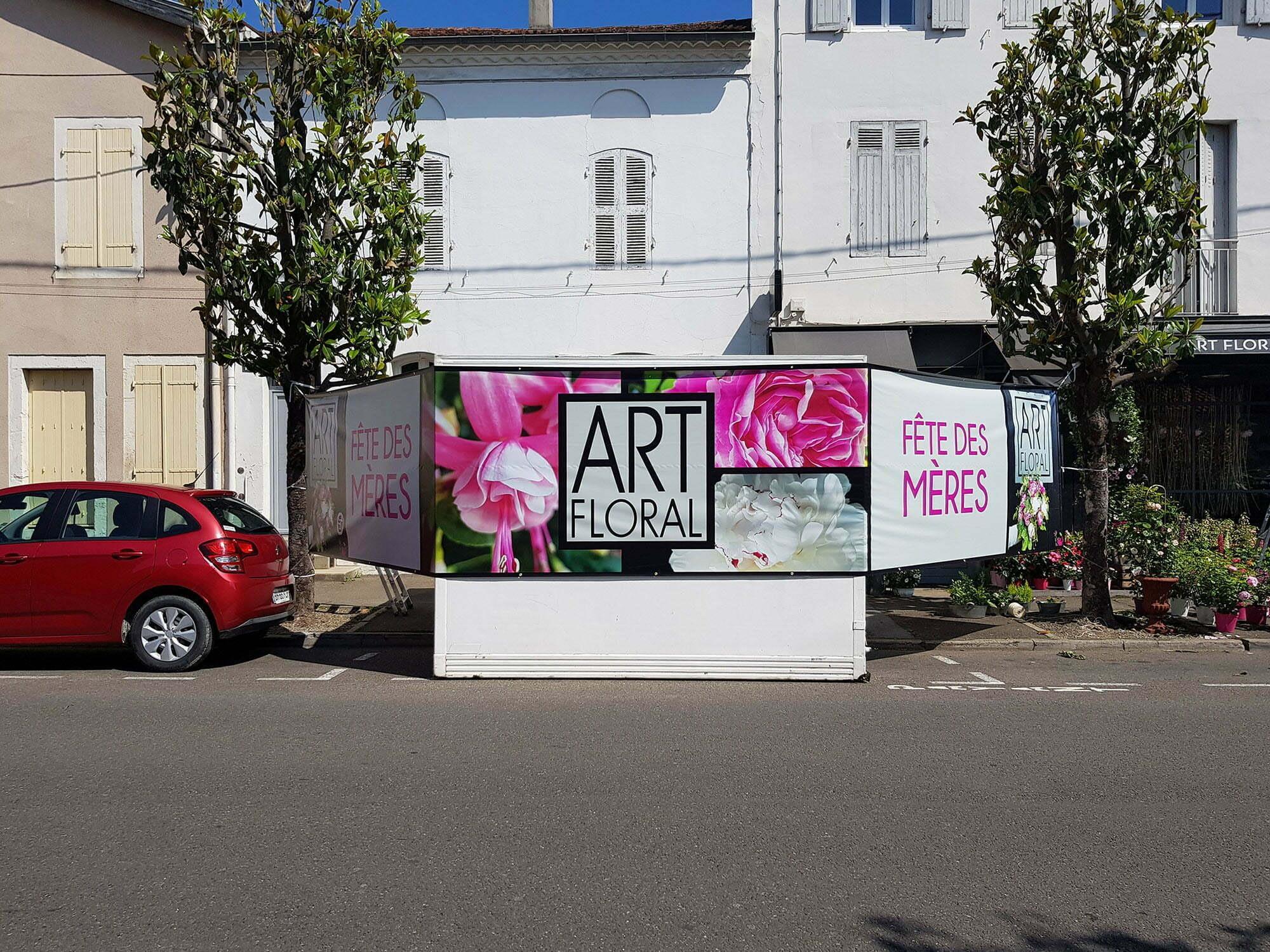 AgenceGraphics a imprimer 10 mètres de baches pour Art Floral