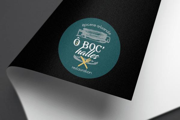 Agence Graphics Creation Logo O'boc Halles Mont De Marsan Biscarosse Landes Pau Bayonne Trabes France Entreprise Aquitaine Gironde